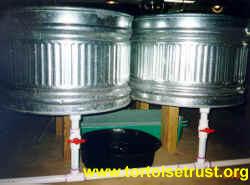 Sztuczne zbiorniki dla żółwi wodno-lądowych
