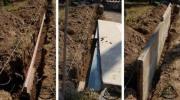 Budowa ogrodzenia wybiegu dla żółwia cz.5 - osadzenie płyty