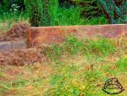 Ogrodzenie wybiegu z grubej deski