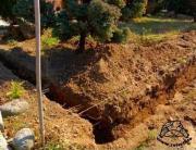 Budowa ogrodzenia wybiegu dla żółwia cz.1 - rowy